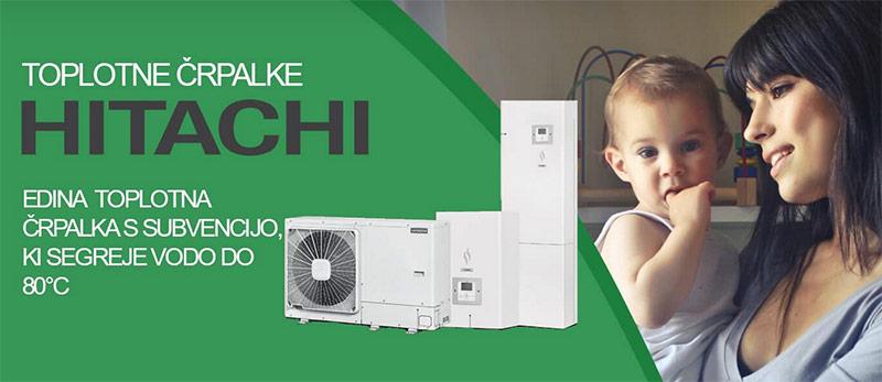 Toplotne črpalke Hitachi